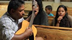 Singing on Micronesian Island of Yap Stock Footage