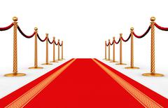 Red carpet - stock illustration