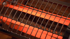 Electric heater with red spirals is turned off Stock Footage