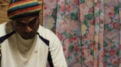 Man studies Bible on Micronesian Island of Yap Stock Footage
