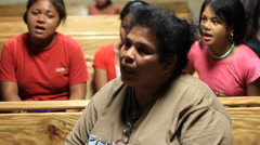 Women Sing on Micronesian Island of Yap Stock Footage