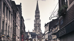 Timelapse in Brussels, Belgium. Stock Footage