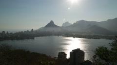 Rodrigo de Freitas Lagoon - Rio de Janeiro Stock Footage