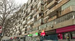 Stock Video Footage of architecture buildings establishments establishing shot time lapse eastern eu