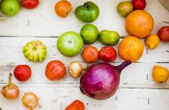 Close up of variety of produce Stock Photos