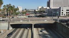 Time Lapse of Traffic on Busy Downtown Streets - Los Angeles, California - stock footage