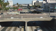 Time Lapse of Traffic on Busy Downtown Streets - Los Angeles, California Stock Footage