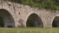 Ancient aqueduct Montego Bay, Jamaica - Located along Jamaican shores Stock Footage
