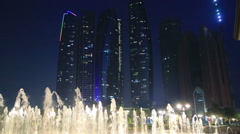 Abu Dhabi view at night 2 Stock Footage