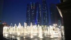 Abu Dhabi view at night Stock Footage