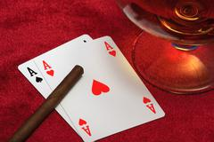 two aces. - stock photo