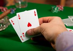 Pair of aces Stock Photos