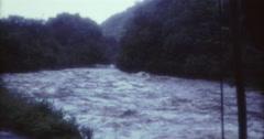 Tahiti Flood 1968 60s Historical 16mm River - stock footage