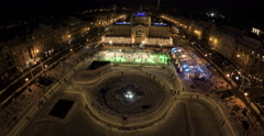 4K Ice park in the center of Zagreb Stock Footage
