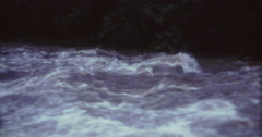Tahiti Flood 1968 60s Historical 16mm River Close Stock Footage