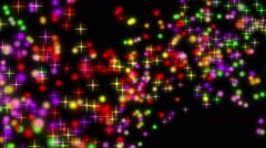 wonderful christmas animation with moving stars and lights, loop hd 1080p - stock footage