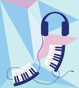 abstract musical background - stock illustration