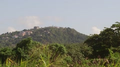 Blue Mountains landscape Saint James Parish Montego Bay, Jamaica Stock Footage