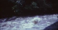 Tahiti Flood 1968 60s Historical 16mm High River Stock Footage