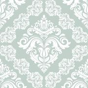 Damask Seamless  Pattern. Orient Background Stock Illustration