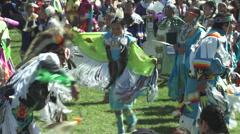 Pow wow dancing activity slo-mo Stock Footage