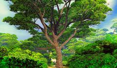 Mighty tree - stock illustration