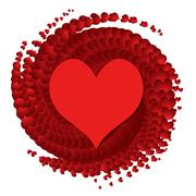 Stock Illustration of vector heart - symbol of love