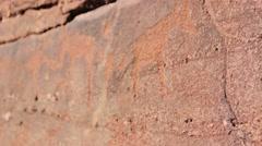 Twyfelfontein engravings Stock Footage