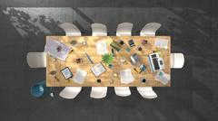 Conference table day - stock illustration