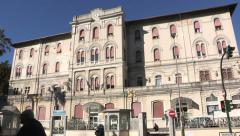 External view of La Spezia hospital Stock Footage