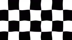 Checkered Flag Waving - Animation Stock Footage