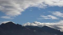 4K Dark Storm Cloud Fog Blackens Blue Sky Time Lapse Stock Footage