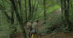 German soldier patrol 02 Stock Footage