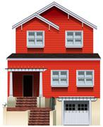 Stock Illustration of An orange old building