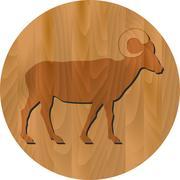 Vector zodiac sign - goat year Stock Illustration