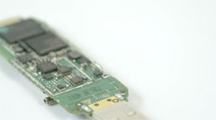 A usb chip with small chipset on it Stock Footage