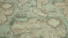 a navigational map with the island of cardandan - stock footage
