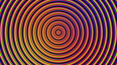 Hypnotic Color Wave Circles - stock footage