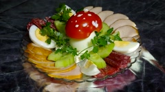 Homemade salad delicacies. Stock Footage