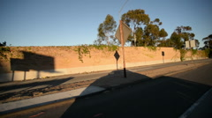 Driving Plates Freeway CAM6 3QR 17 Interstate 10 West Exit at La Cienega Blvd Stock Footage