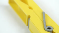 Turn around upside view of the yellow clipper Stock Footage