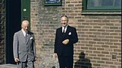 England 1955: gentlemen portrait Stock Footage