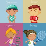 Sports Stock Illustration