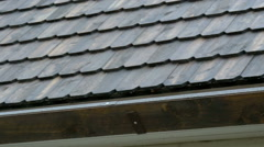 The wooden shingle roof of the house Stock Footage