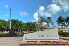 Port of Miami entrance Stock Footage