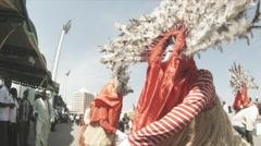 Slo-mo Masquerade dancing Stock Footage