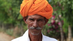 Stock Video Footage of Video 1920x1080 - Indian man, Pushkar Camel Mela