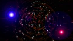 Fly in cosmos tunnel and 2 big star 4k Stock Footage