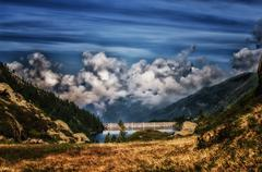 Alpin lake Stock Photos
