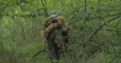 German soldier patrol 04 Stock Footage